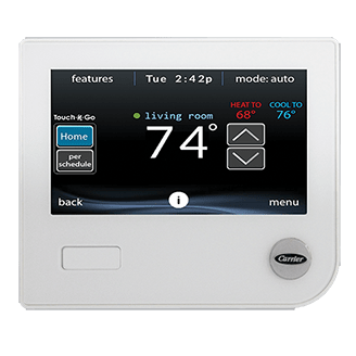 Infinity Remote Access Touch Control Programmable Thermostat Systxccwic01 B Carrier Home Comfort