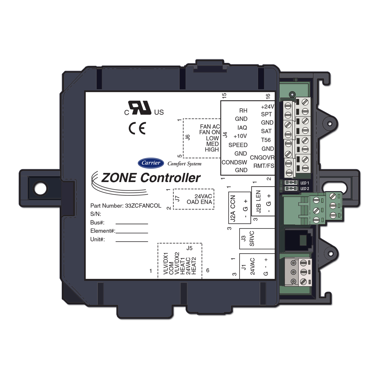 carrier-33ZCFANCOL-fan-coil-zone-product-integrated-controller