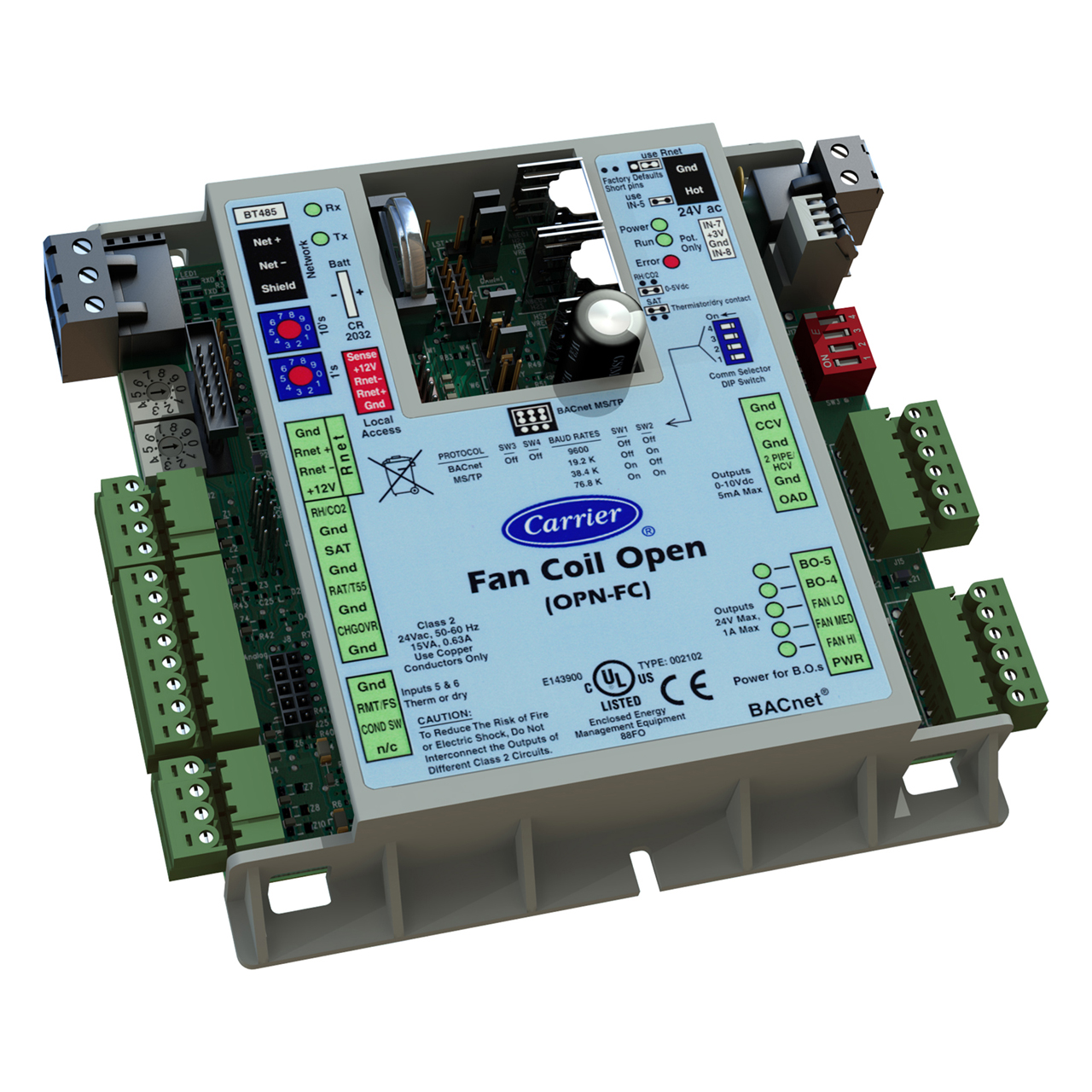 carrier-OPN-FC-ivu-fan-coil-open-product-integrated-controller
