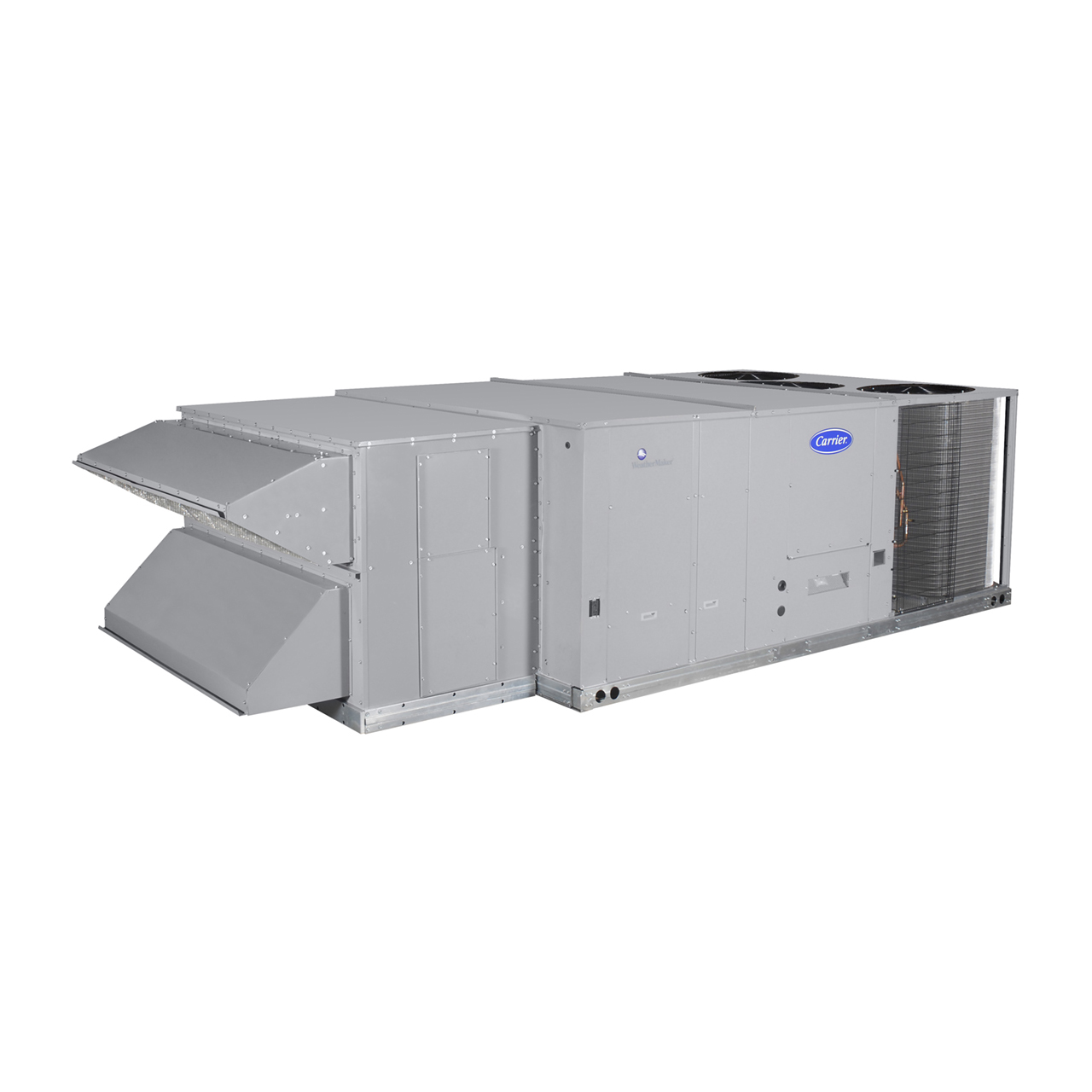 """48HC WeatherMaster® rooftop units were designed by customers for customers. With a gauge plug, centralized control center, plug & play accessory board, """"no-strip screw"""" collars, and handled access panels, we've made the unit easy to install, easy to maintain, and easy to use."""