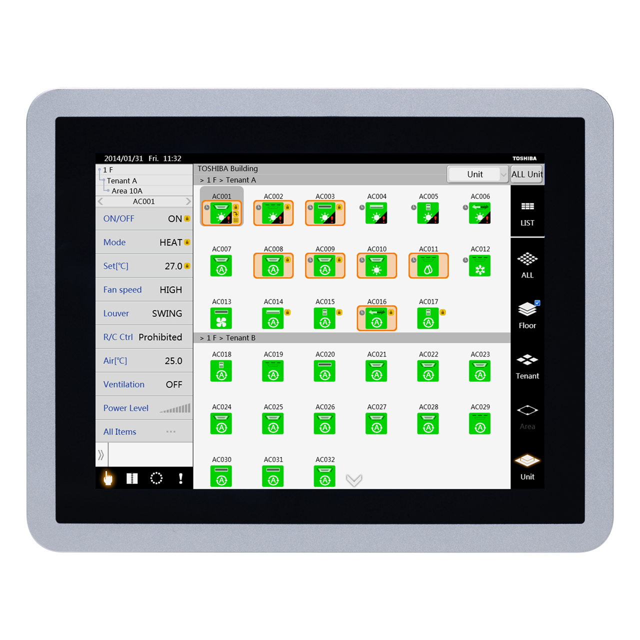 carrier-BMS-CT512OUL-vrf-touchscreen-central-controller