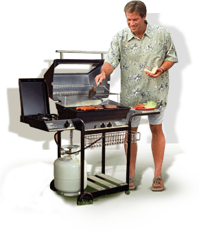 man Grilling