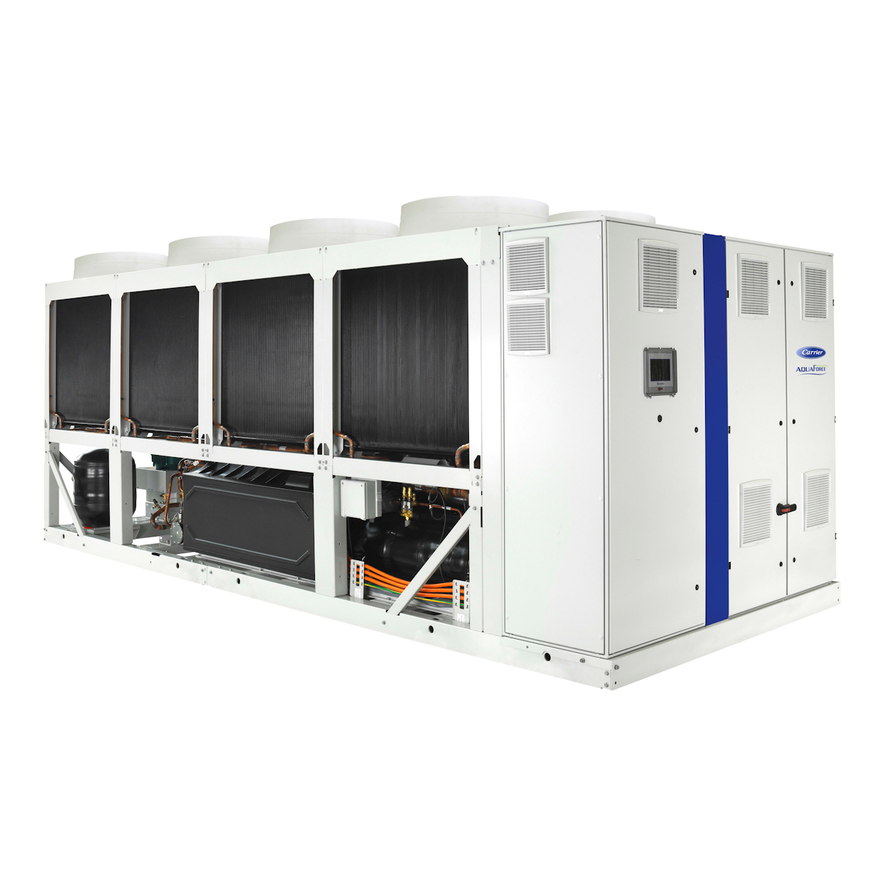 carrier-30KAV-variable-speed-screw-liquid-chiller-back-left