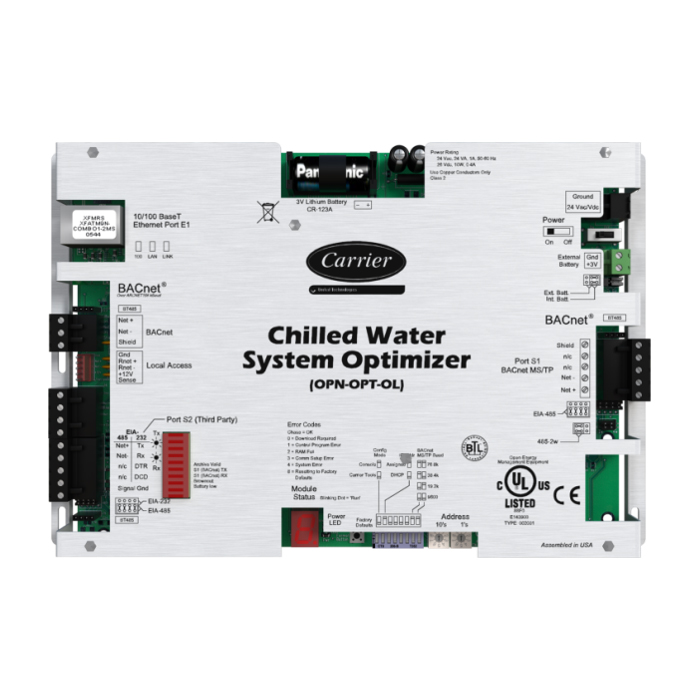 Carrier Chillervu Chilled Water System Optimizer Opn Opt Ol