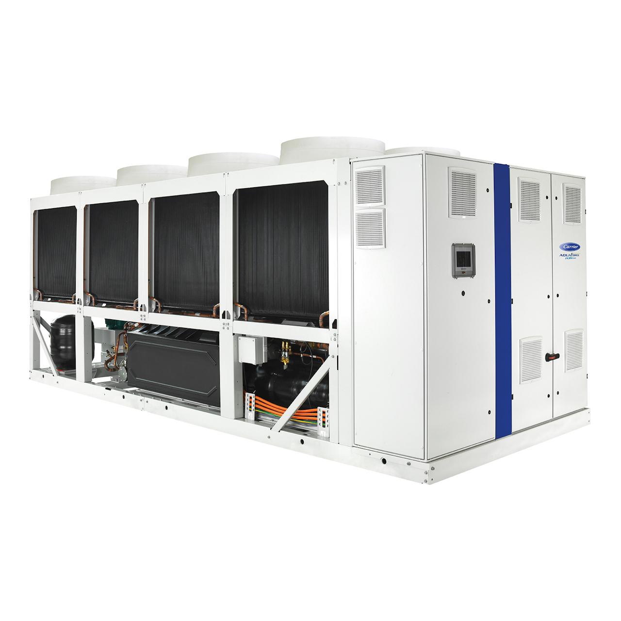 carrier-30KAVPZE-variable-speed-screw-liquid-chiller-back-left