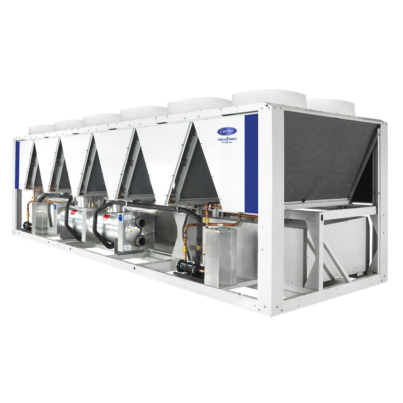 carrier-30XBZE-air-cooled-fixed-speed-screw-chiller-left