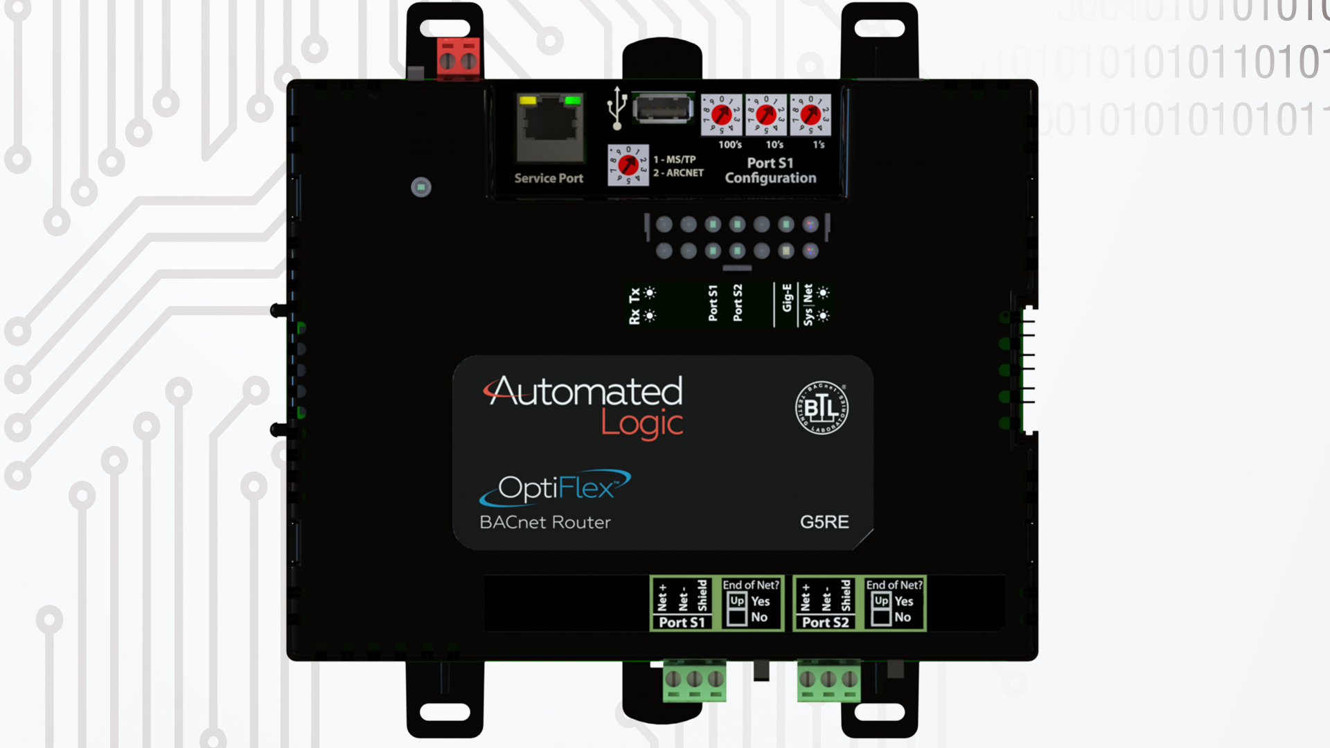 OptiFlex-BACnet-router-model-G5RE-top-view