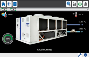 carrier-aquaforce-air-cooled-chiller-control-screen
