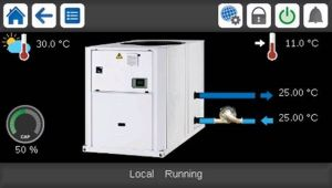 carrier-aquasnap-air-cooled-chiller-30RBS-control-screen
