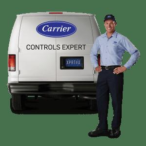 carrier-controls-expert-standing_-in-front-of-service-van