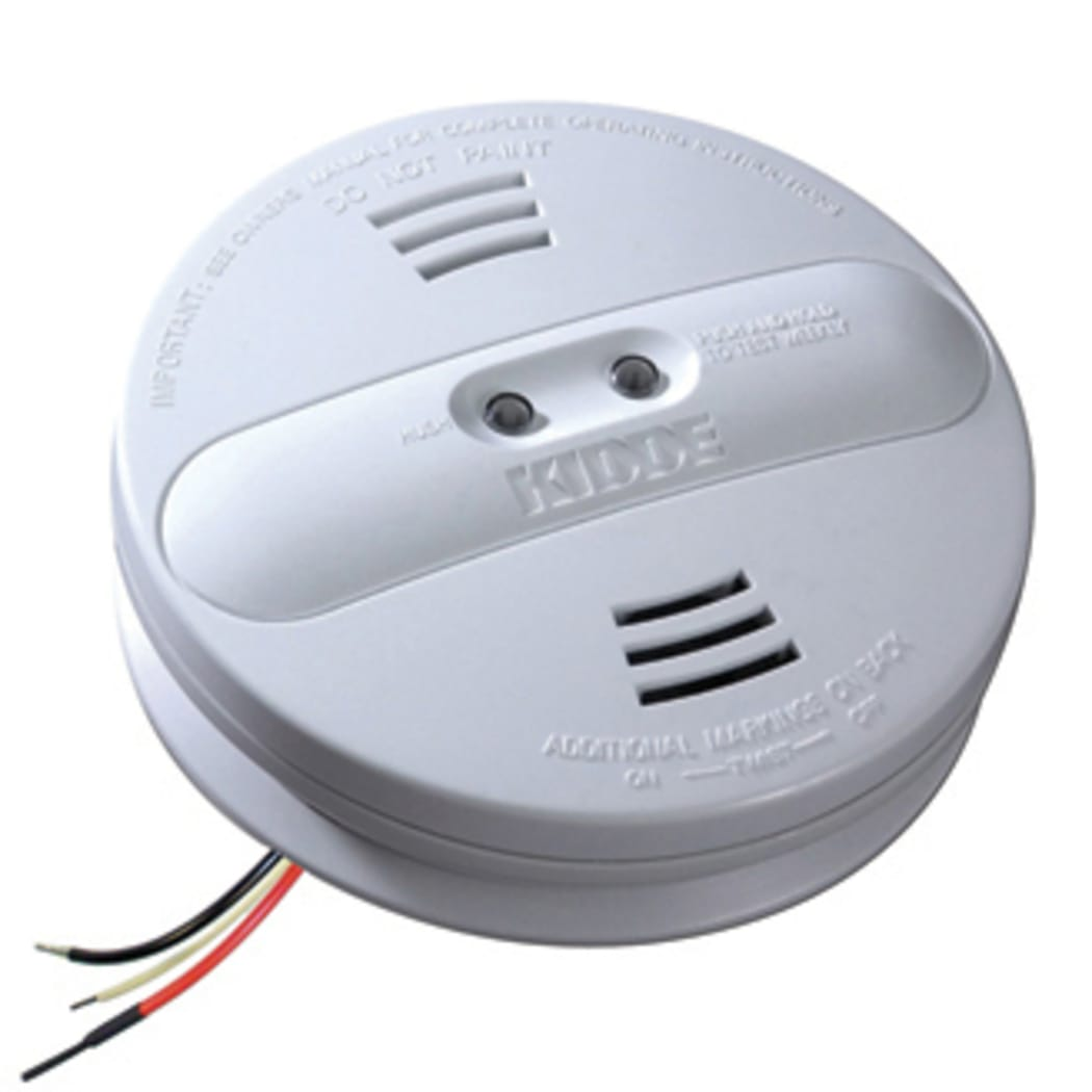 Kidde Smoke Detector 3-Wire Ionization Sensor Hardwired 9V Battery Backup 6-Pack