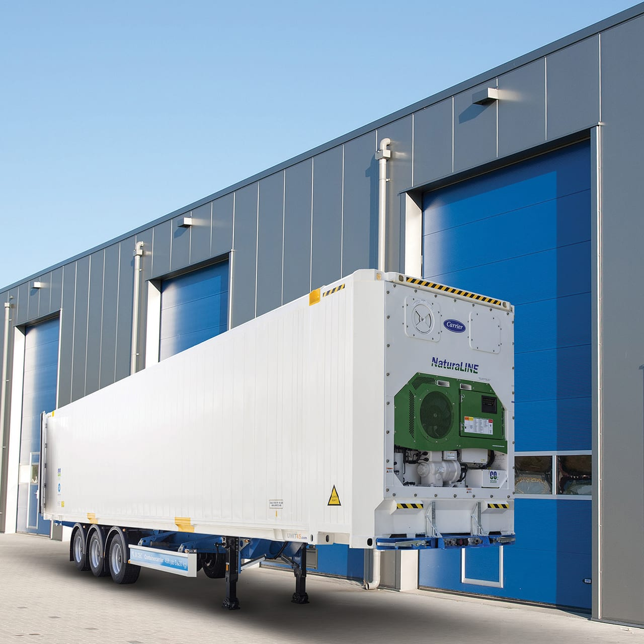 Carrier Pods temporary storage unit monitored by Sensitech