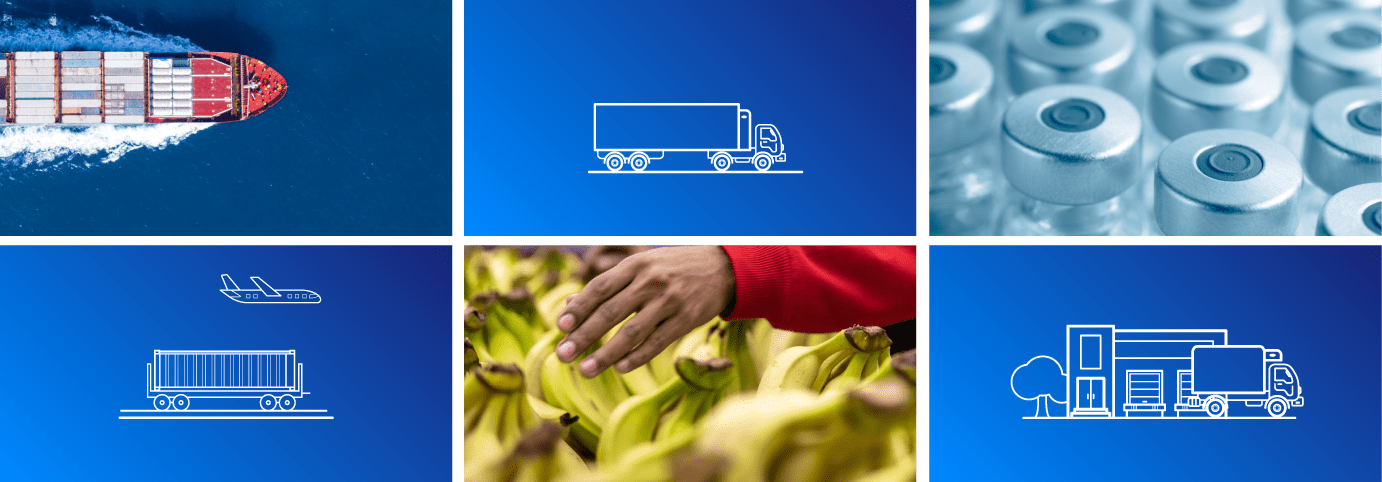 Carrier's connected cold chain for  transport of perishable food and medicine